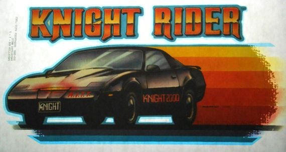 Knight Rider Vintage T Shirt Iron On Heat by CrushiVintage on Etsy