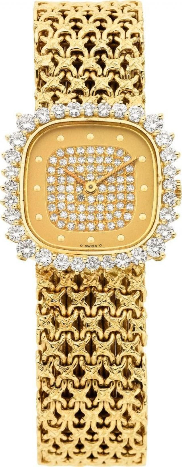Patek Philippe Diamond, Gold Wristwatch.