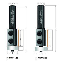 Portacuchillas de cuchillas reversibles para recortar lavabos en Corian