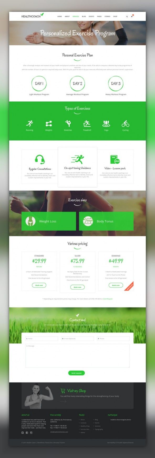 Health Coach Life Coach WordPress theme