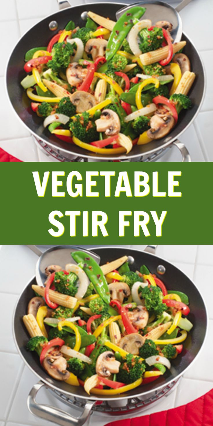 Serve our Vegetable Stir Fry with a delightful side of brown rice and you've got a filling, meatless meal!