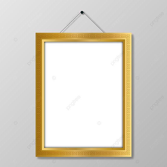 Moldura Dourada Pendurada No Vetor De Moldura Branca Material De Imagem Vetor E Png White Photo Frames Frame Photo Frame