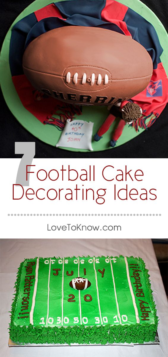 Die-hard fans will appreciate a football themed cake on their birthday or game day. Whether you tackle an impressive-looking 3D cake or decide to create the playing field, these ideas are sure to score a touchdown with everyone.