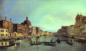 Canal Grande e S. Simeone Piccolo; Canaletto; olio su tela; National Gallery.
