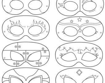 Máscaras de héroe Cómico héroes de cómic por HappilyAfterDesigns