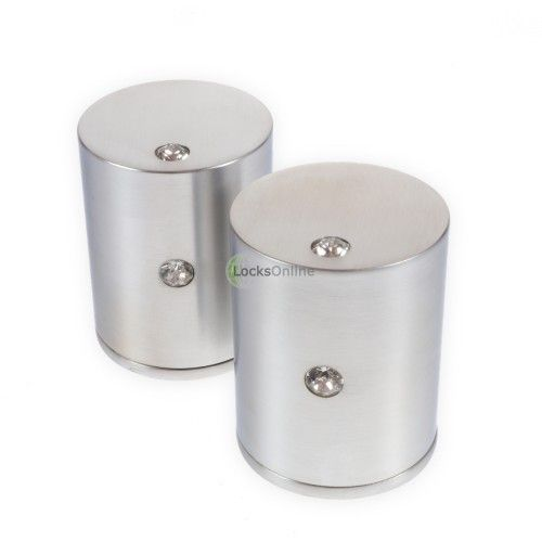 LocksOnline Double Crystal Cylindrical Mortice Door Knob Set with Swarovski Elements  These beautiful door knobs have a subtle and understated detailing thanks to the two inset Swarovski Elements Crystals. Beautiful and classy, these are indeed special door knobs.  #doorknobs #interiordesign #home