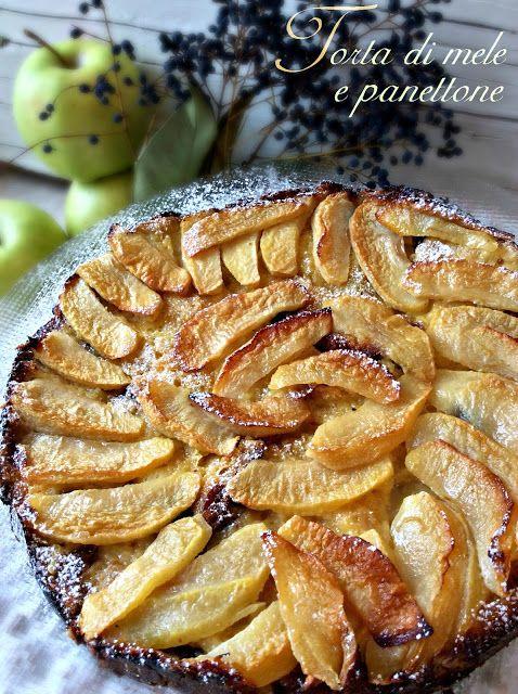 Briciole di Sapori: Torta di mele e panettone. Come riciclare nel migl...