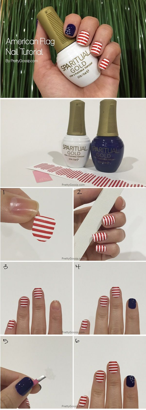 #American Flag Nail by #PrettyGossip. #NOTD #Nails #NailLook