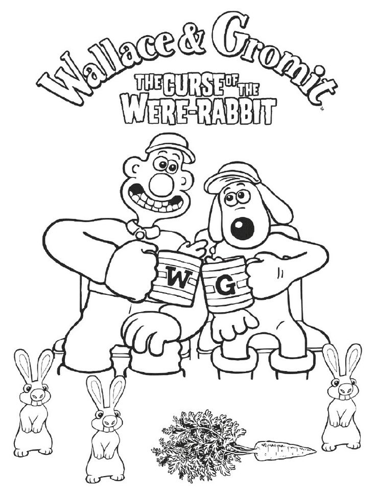 wallace and gromit coloring pages | 19 best Wallace And Gromit images on Pinterest | Coloring ...