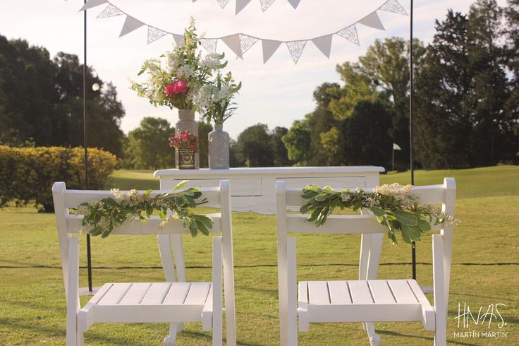 Casamiento, Boda, Civil, aire libre, campo de golf, Los Lagartos, vintage, shabby chic, ceremonia, banderines, altar wedding, inspiration, ceremony