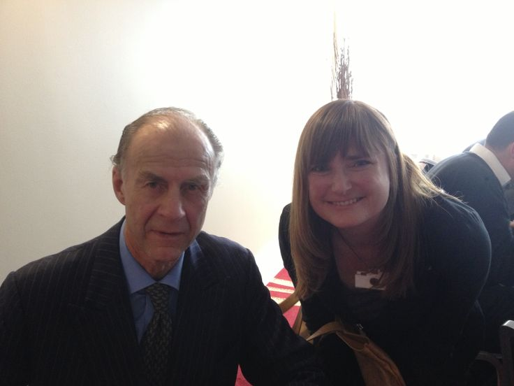 Kate Tyler with Sir Ranulph Fiennes - the world's greatest living explorer.