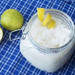 Make this indulgent lemon-lime sea salt scrub for less than $5.