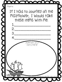 Mayflower Travels! {Freebie} - Keeping up with Kindergarten - TeachersPayTeache...