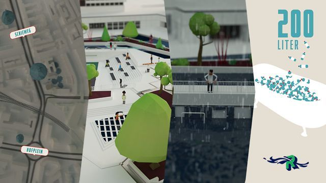 The city Rotterdam has asked Studio Analoog to make an animation of the Watersquare Benthemsquare in Rotterdam. This Animation shows the worlds first water square! This square can be used in multiple ways, besides collecting rainwater, its possible to sport, skate and dance in one of the three basins. The animation shows why we need a watersquare, how it works and how it looks.  Enjoy watching the animation!