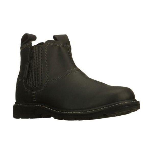 Skechers Men's Blaine Orsen Black ($67) ❤ liked on Polyvore featuring men's fashion, men's shoes, black, mens slip on shoes, skechers mens shoes, mens black shoes, mens slipon shoes and mens leather shoes