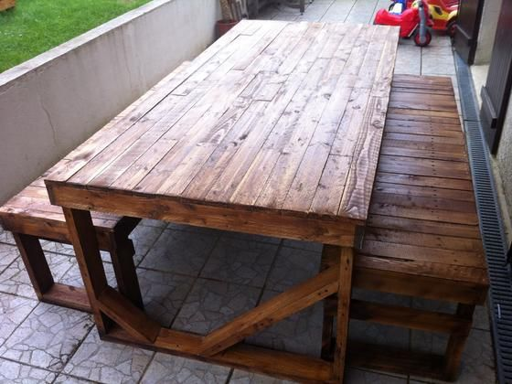 Table Picnic Palette. Wickedcool Spool Stowaway Pallet Stool Project ...