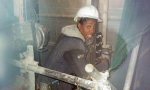 Gina Yashere, lift engineer.