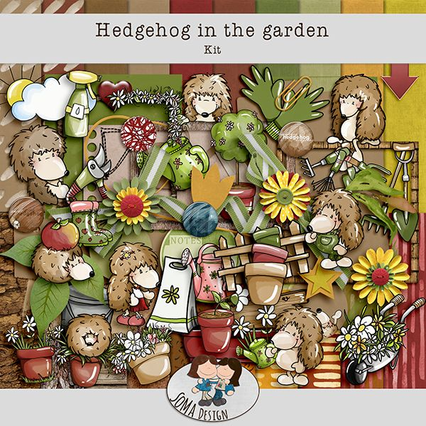 Oscraps.com :: SoMa Design Hedgehog In The Garden Kit
