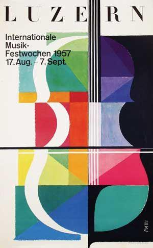International Musik-Festwochen Luzern by Celestino Piatti (1957)