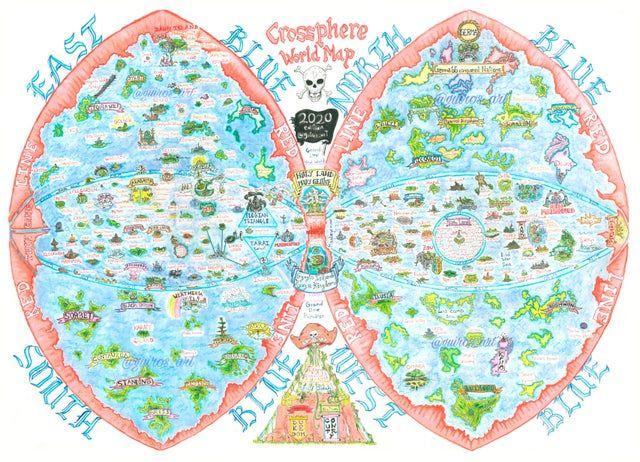 One Piece World Map Crossphere Onepiece One Piece New World One Piece World One Piece Games