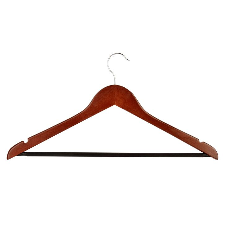Basics Wayfair Basics Non-Slip Wooden Hanger Set (Set of 24)