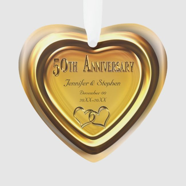 50th Golden Wedding Anniversary Photo Ornament 50th Gold 50th Fiftieth G In 2020 Golden Anniversary Gifts 50 Golden Wedding Anniversary Wedding Anniversary Photos