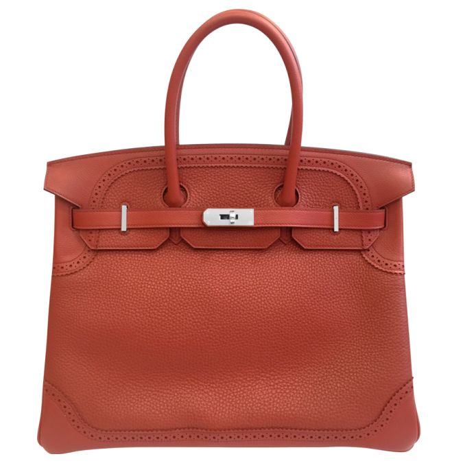 BagMasterpiece presents this Hermes  Brique Birkin 35 in Palladium hardware available in our current or previous collections.  The rare Ghuillies is the bag for the sophisticated and complex woman who enjoys her Birkins.  This deep burgandy color is rich with the 'old' aristocratic penchant for deep tones.  Contact us for current availability    Visit www.bagmasterpiece.com for additional information and pricing