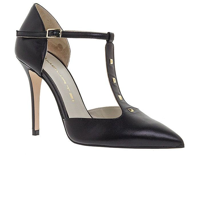 100455-BLACK LEATHER www.mourtzi.com #pumps #heels #mourtzi #wow