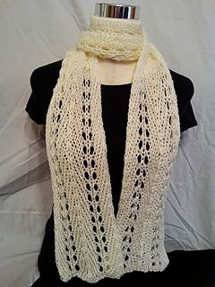 Free pattern. Loom knit light and lacey loom scarf by Faith Schmidt. Authentic knitting Board