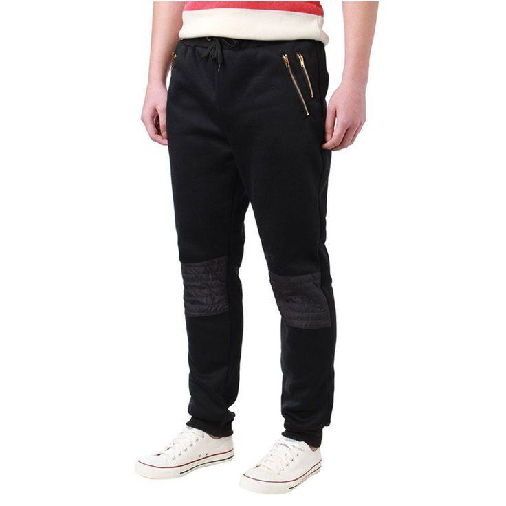 Mens Joggers, Elastic Waist, Mens Sweatpants, Grey, Black, White