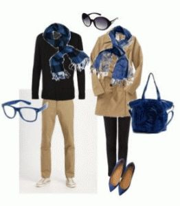 Prep up your outfits with matching his and her team color scarves.