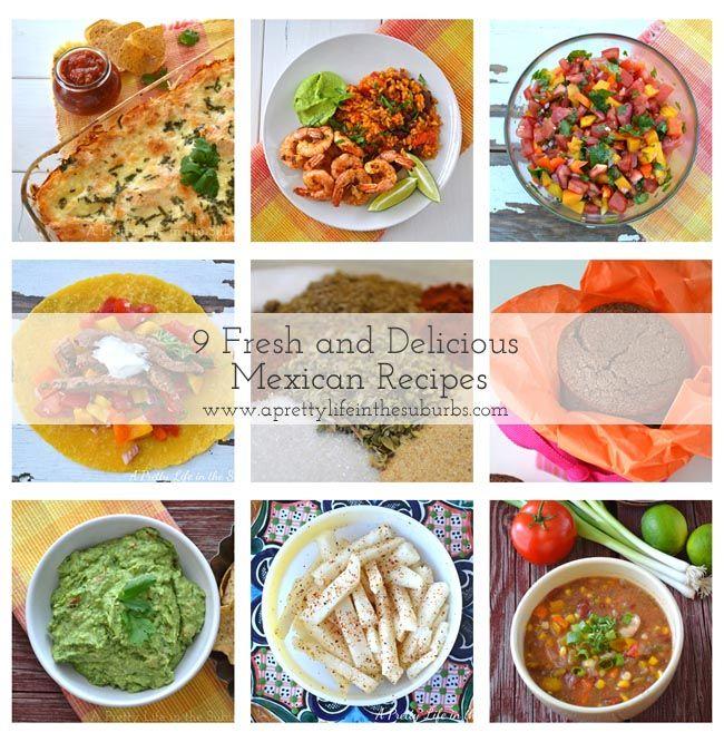 9 Mexican Recipes {A Pretty Life}