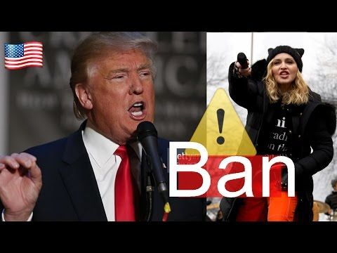 Madonna and Ashley Judd ATTACK President Donald Trump at The Women's March , trump news today - YouTube
