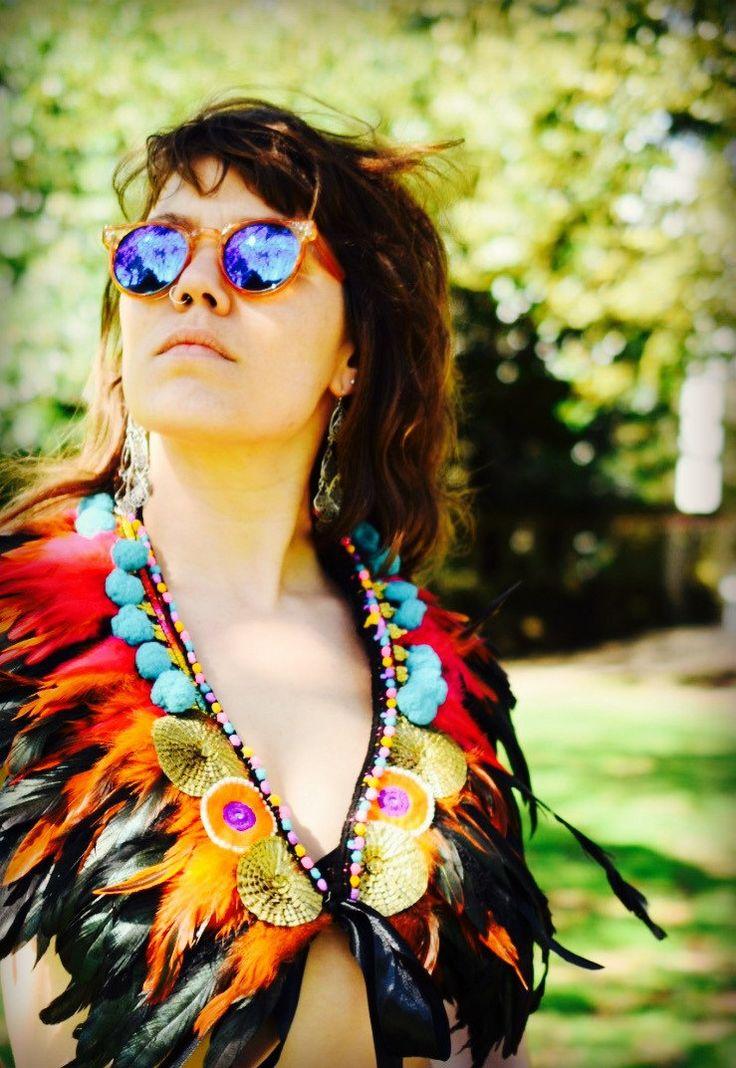 Festival feather shawl, cape, bib, belt, carnival, festival clothing, Burning Man, Secret Garden Party, feather shawl, carnival clothing by feathersandthreaduk on Etsy