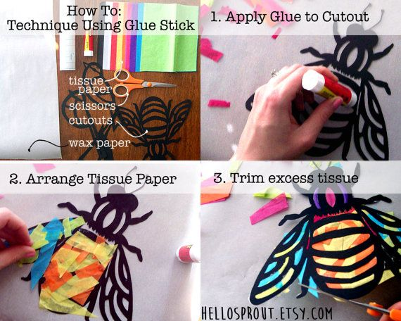 Kids Craft farfalla Stained Glass Suncatcher Kit di HelloSprout