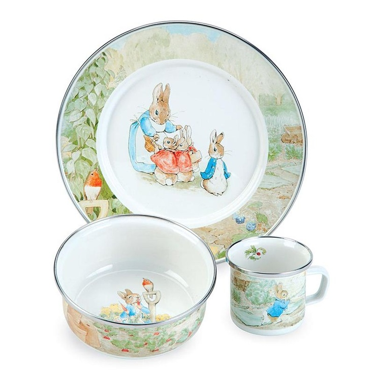 Beatrix Potter Enamelware set - Peter Rabbit Jeremy Fisher and Jemima Puddle-Duck  sc 1 st  Pinterest & 480 best peter rabbit images on Pinterest | Easter Peter rabbit and ...