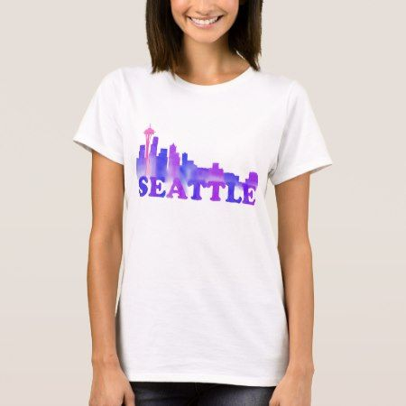 Seattle skyline cool T-Shirt - click to get yours right now!