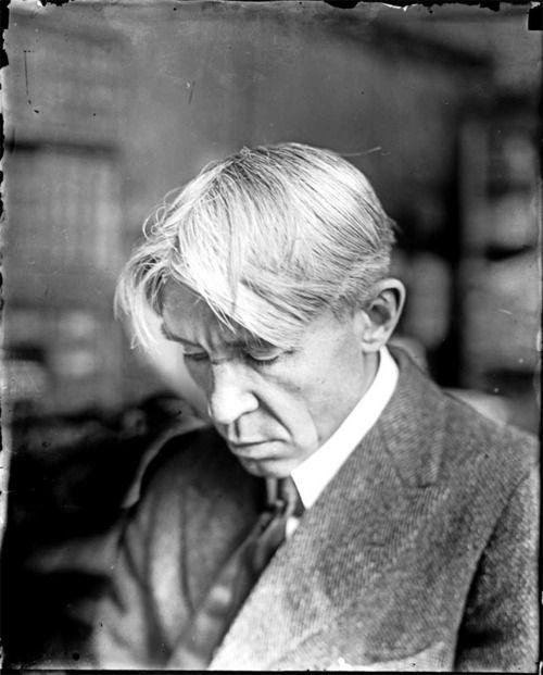 """Poetry is an echo asking a shadow to dance."" ― Carl Sandburg (1878-1967), c. 1930s. Photograph by Jun Fujita."