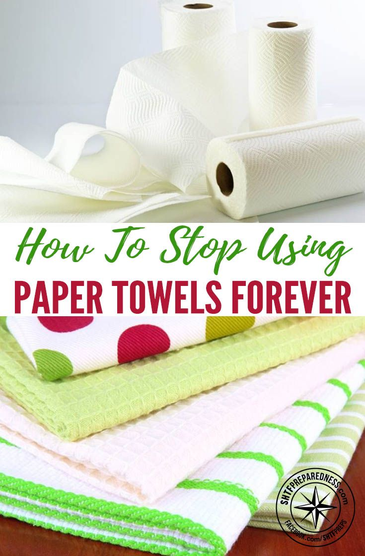 How To Stop Using Paper Towels Forever — There are plenty of household items that are wasteful and unnecessary. They may be more convenient in the short run, but if you are a homesteader or living off the grid, trash disposal is your responsibility entirely.