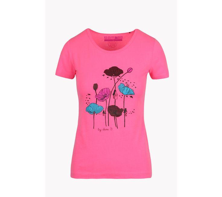 Dámské triko s potiskem VLČÍ MÁK Sam 73 | modino.cz #modino_cz #modino_style #style #fashion #sam73
