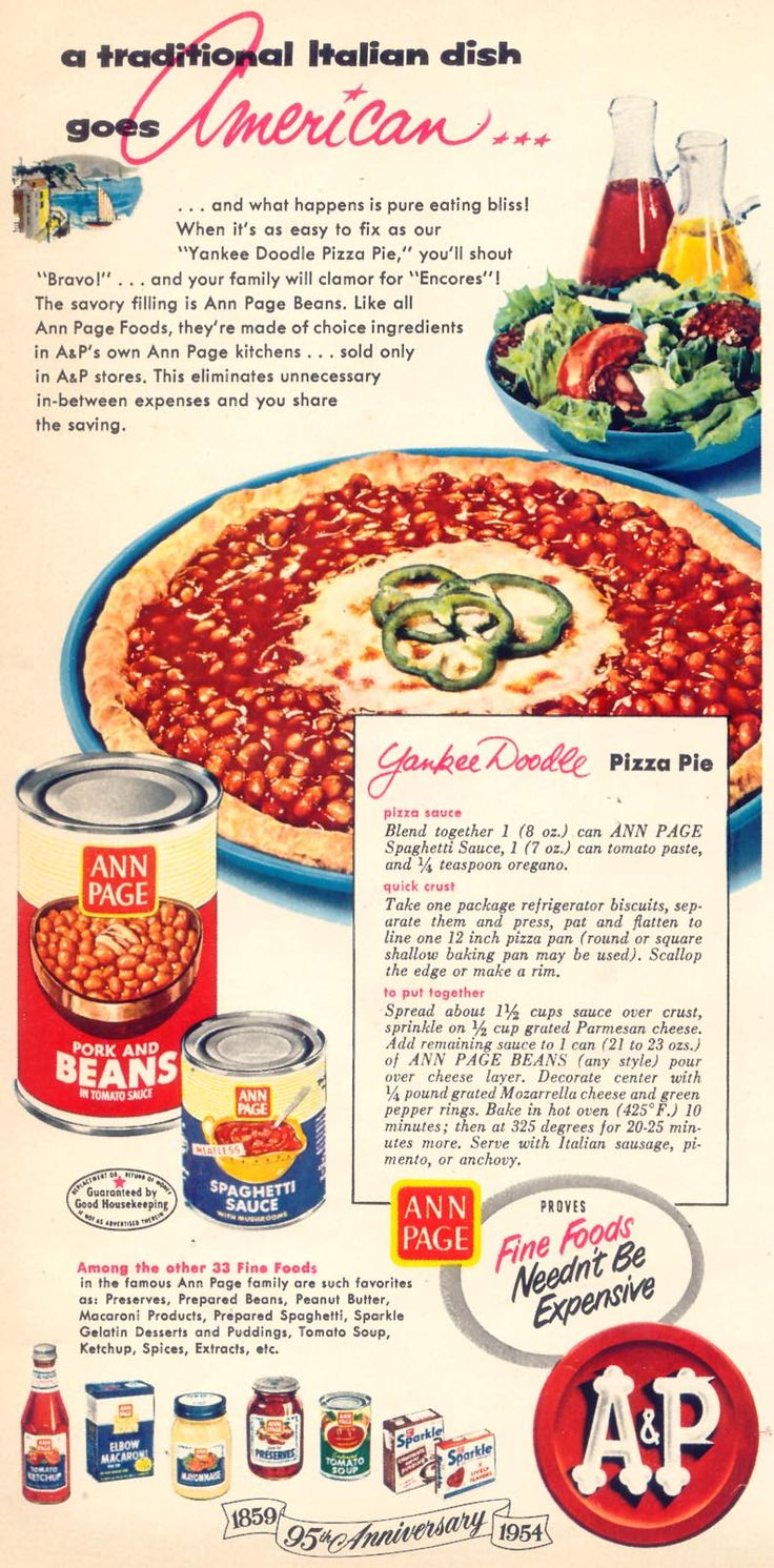 Yankee Doodle Pizza Pie With Biscuit Dough And Canned Baked Beans Of July  Idea)