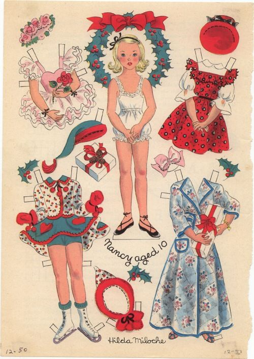 (⑅ ॣ•͈ᴗ•͈ ॣ)♡                                                             ✄vintage paper doll fashions.