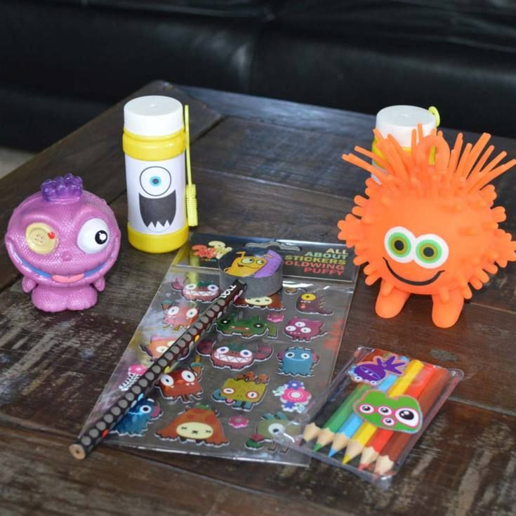 The monster goodies from the goodie bags at our little man's first birthday. I decided not to include lollies or food. The theme was a monster bash. #littlemonster #firstbirthday #birthdaycake