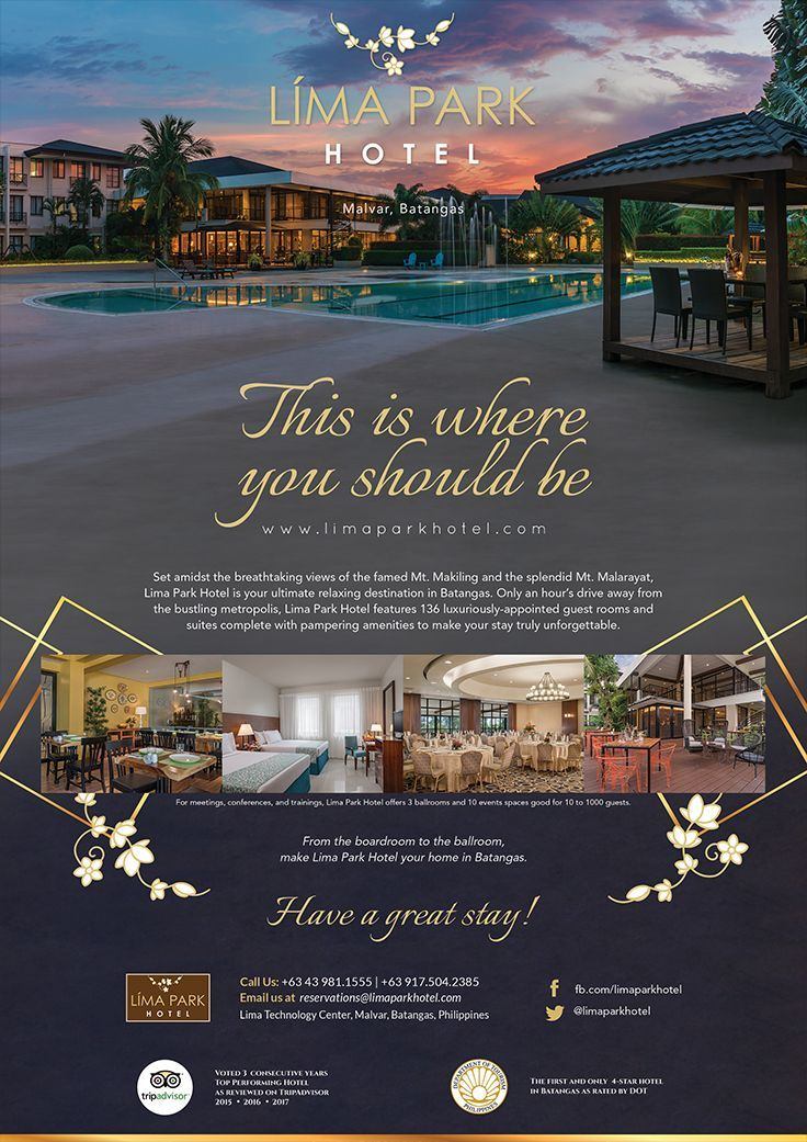 poster Lima Park Hotel Ad Material in 2020 | Hotel ads ...