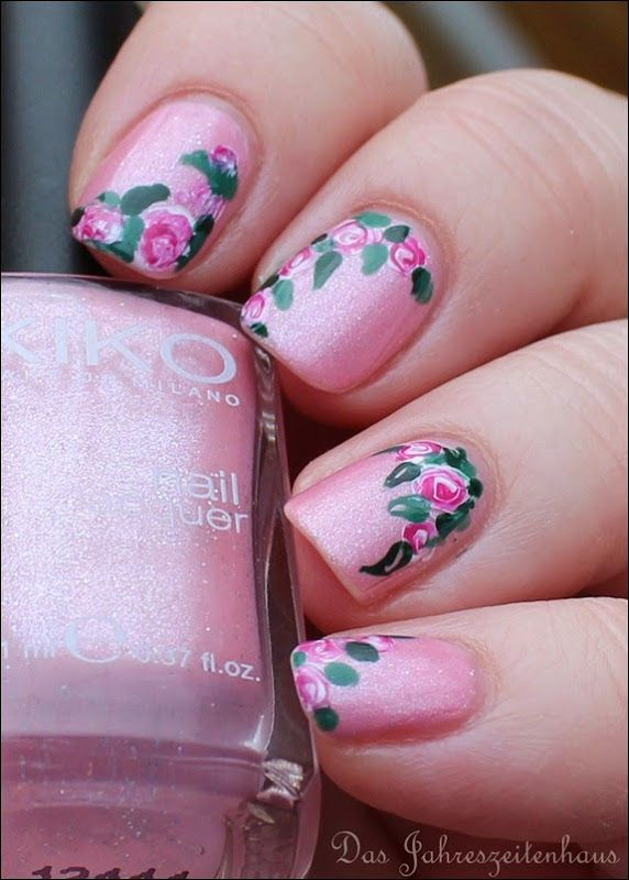 00 Roses in Bloom Nail Art Rosen Blüten Rosa 4