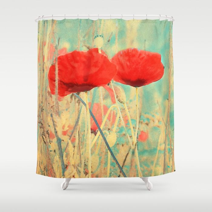 Buy Poppies vintage(3) Shower Curtain by maryberg. Worldwide shipping available at Society6.com. Just one of millions of high quality products available.