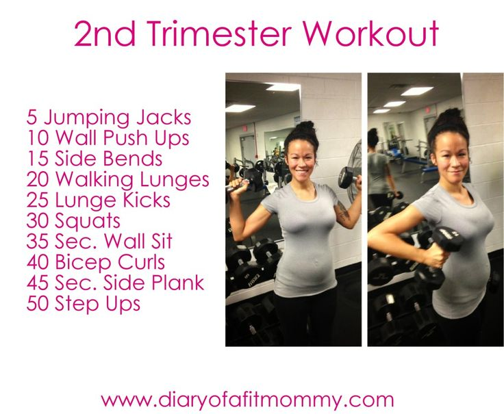 Diary of a Fit Mommy | Second Trimester At-Home Workouts