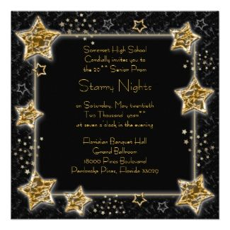 Starry Night Under The Stars Prom Invitations Awesome