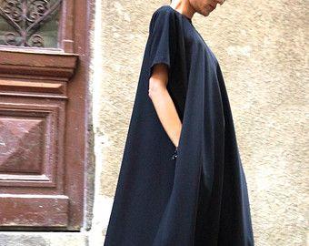 NEW Maxi Dress / Black Kaftan / Extravagant Long Dress by Aakasha
