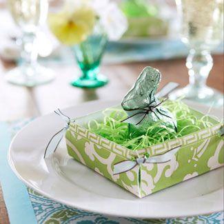 Easter Table Setting Craft Good House Keeping - cute idea